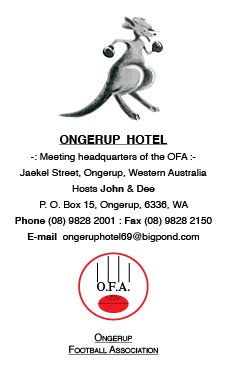 Ongerup Hotel advert vertical